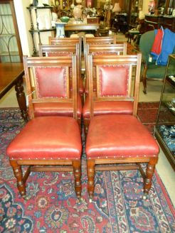 Set of 19th century mahogany dining chairs