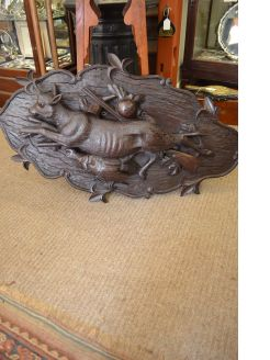Late 19th century black forest carving