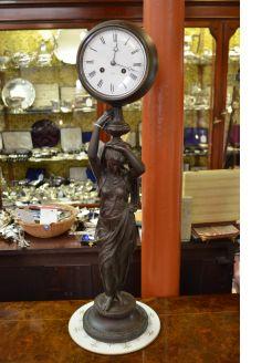 Spelter clock