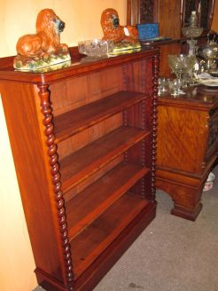 Victorian open floor bookcase