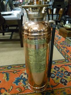 Old copper fire extinguisher