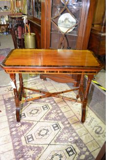 Victorian mahogany rosewood card table