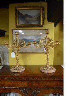 Pair of gilt candlesticks