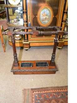Victorian carved oak stick stand