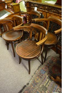 Set of four bentwood chairs