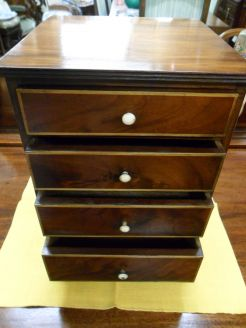 Mahogany miniature chest