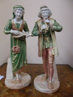 Pair of Royal Worcester Figures, Signed Hadley.