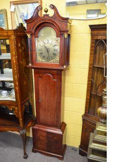 Mahogany cased clock