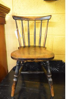 Victorian Oak childs chair