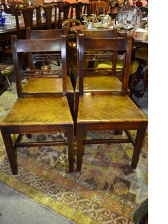 Set of four solid mahogany chairs