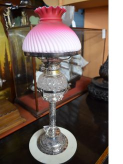 Victorian plated lamp