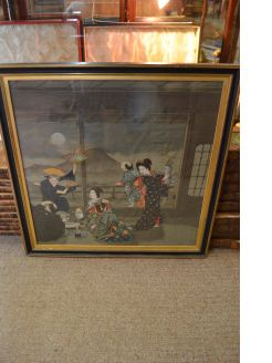 Japanese silk picture
