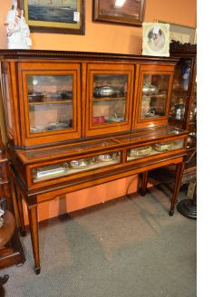19th century mahogany display cabinet