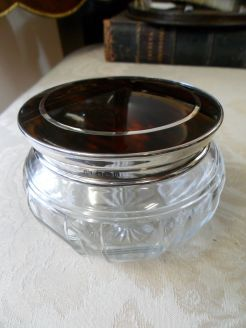 Silver topped Jar
