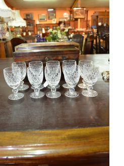 Set of ten waterford crystal glasses