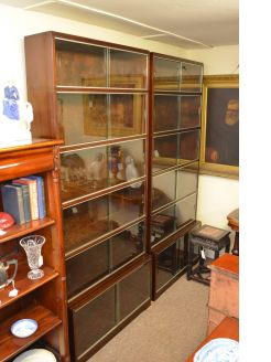 Pair of Mahogany Sectional Bookcases