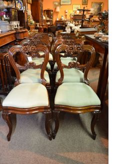 Set of eight william IV rosewood dining chairs