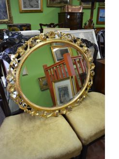 Giltwood framed mirror
