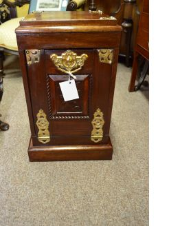 Mahogany and brass coal box