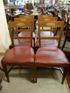 Set of six georgian style chairs
