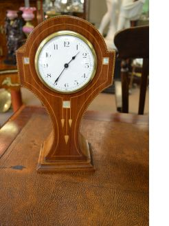 Mahogany art  nouveau cased clock