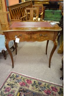 Mahogany inlaid desk