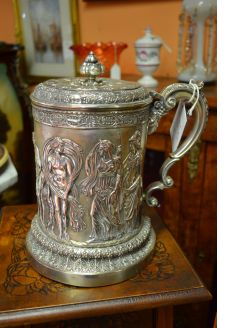19th century Plated Tankard