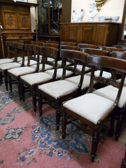 Set of eighteen georgian mahogany chairs