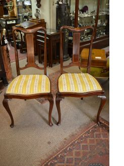 Pair of edwardian mahogany chairs