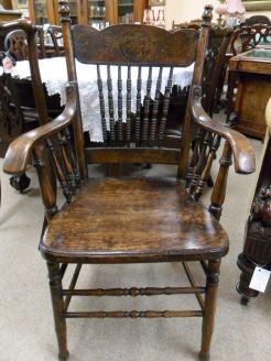 victorian oak armchair
