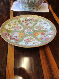 19th century chinese , cantonese,oval dish