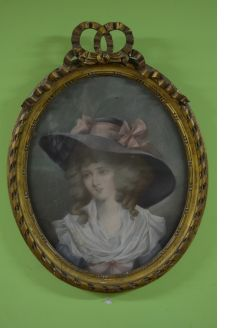 19th century pastel drawing