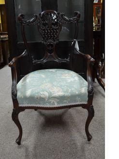 Late 19th century mahogany chair