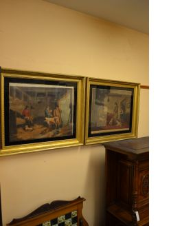 Pair of Georgian gilt framed engravings