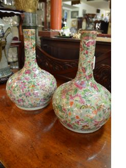 Pair of 19th century chinese / cantonese vases