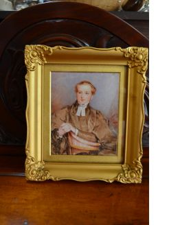 19th century miniature in gilt frame