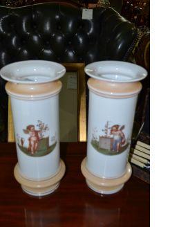 Pair Victorian porcelain vases