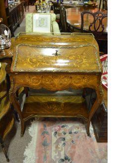 19th century rosewood inlaid desk