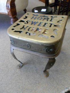 19th century brass footman