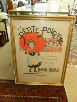 French antique poster