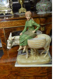 Royal dux group porcelain figure