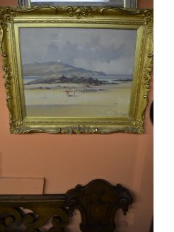 Gilt framed oil painting