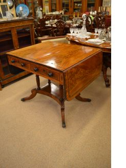 Regency mahogany sofa table