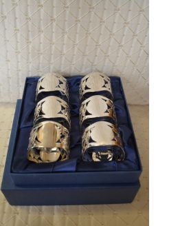 Set of six napkin rings (boxed)