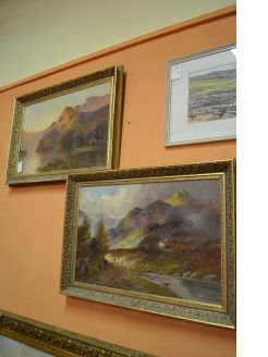 Pair of oil on canvas , framed paintings