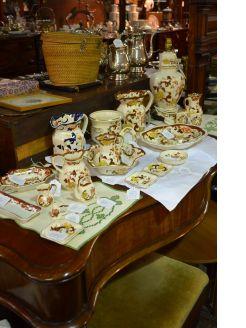 Large selection of masons ware