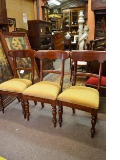 Three victorian mahogany chairs