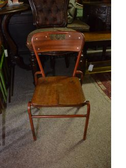 Vintage childs classroom chairs