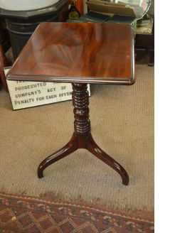 Georgian Mahogany snap top table