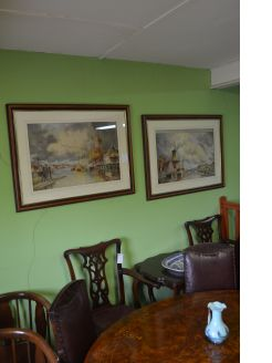 Pair of dutch watercolours